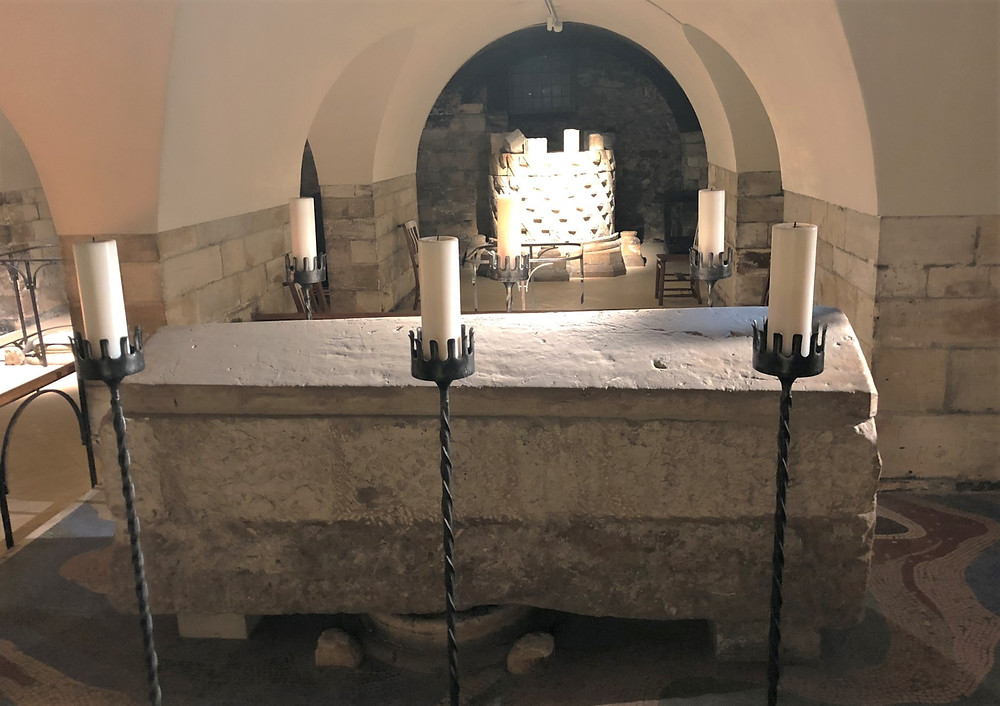 The remains of York's Patron Saint William Fitzherbert, is located in the Western Crypt of York Minster