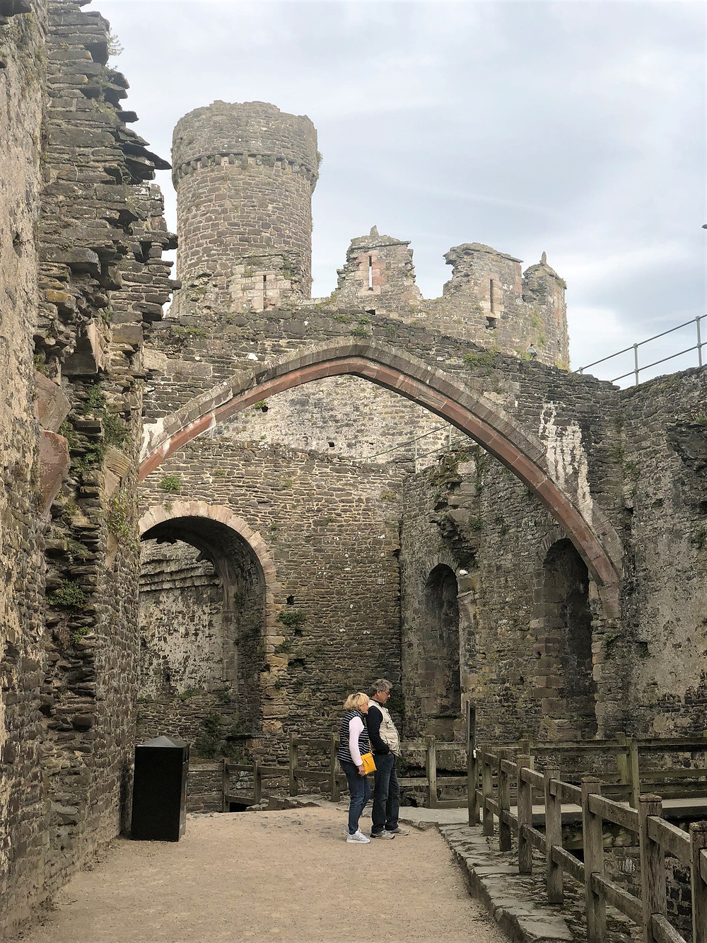 The central arch of Conwy Castle Great Hall was over 100 feet long