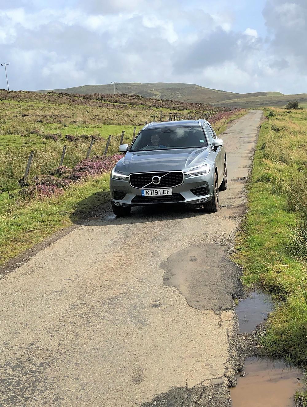 Single track roads in Southern Scotland