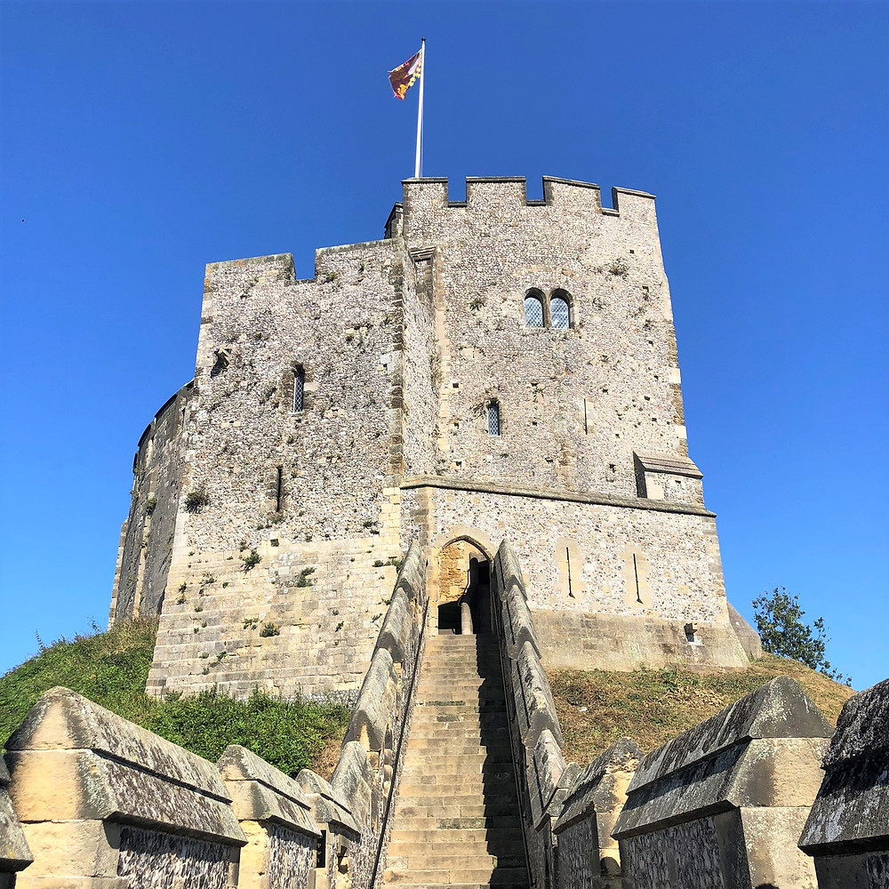 The Arundel Keep is linked to the rest of the castle by a walkway built on top of the curtain walls