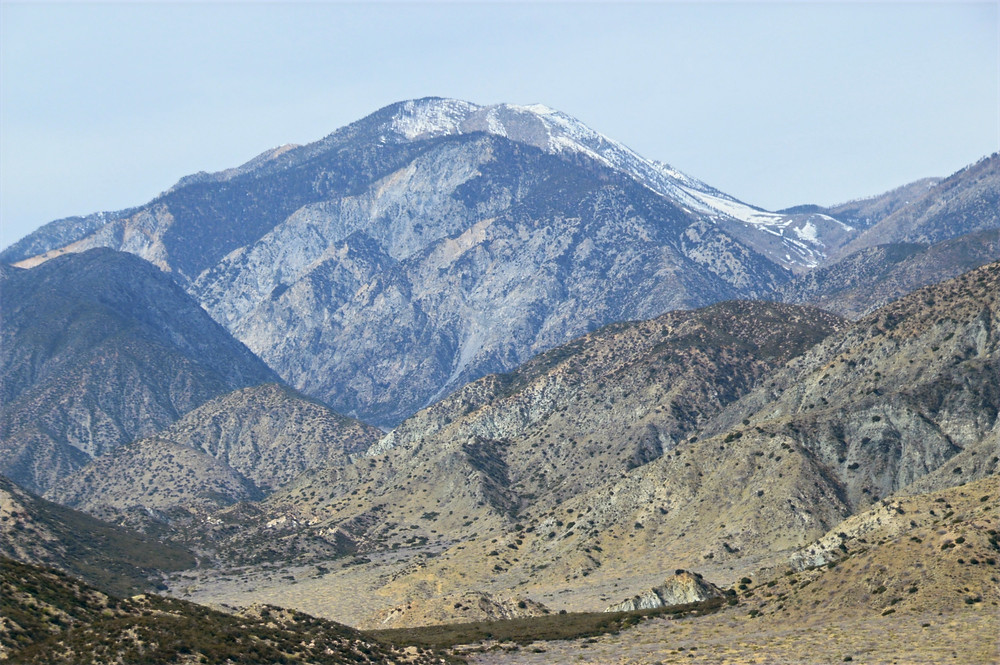 San Gorgonio from PCT trail in Whitewater Preserve