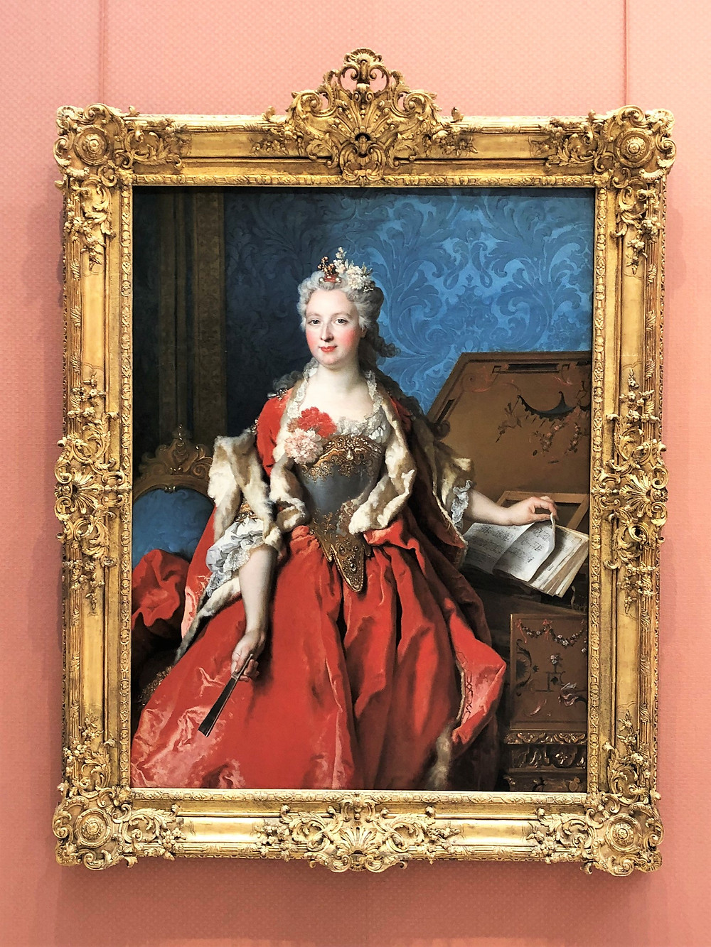 Portrait Of Marguerite De Seve Wife Of Barthelemy Jean Claude Pupil' in Timken Museum of Art in San Diego Balboa Park