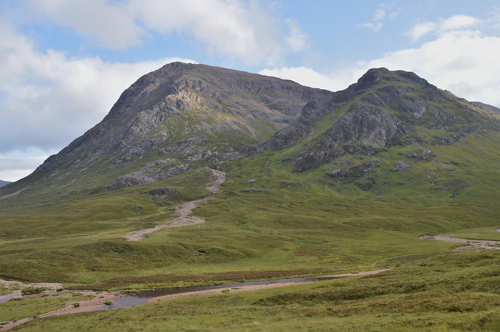 Impressive Stob Dearg of Buachaille Etive Mor from Glen Etive