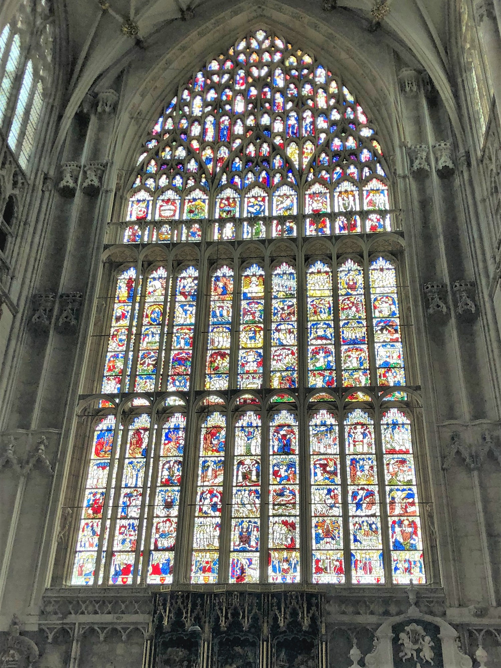 Historians consider the East Window one of the great artistic achievements of the Middle Ages.