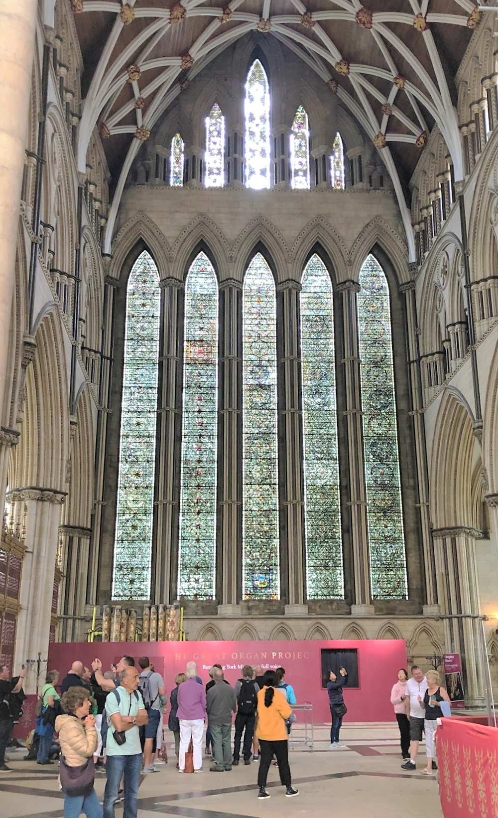 In the North Transept is the Five Sisters Window. It is the oldest complete window in York Minster and dates from around the year 1260