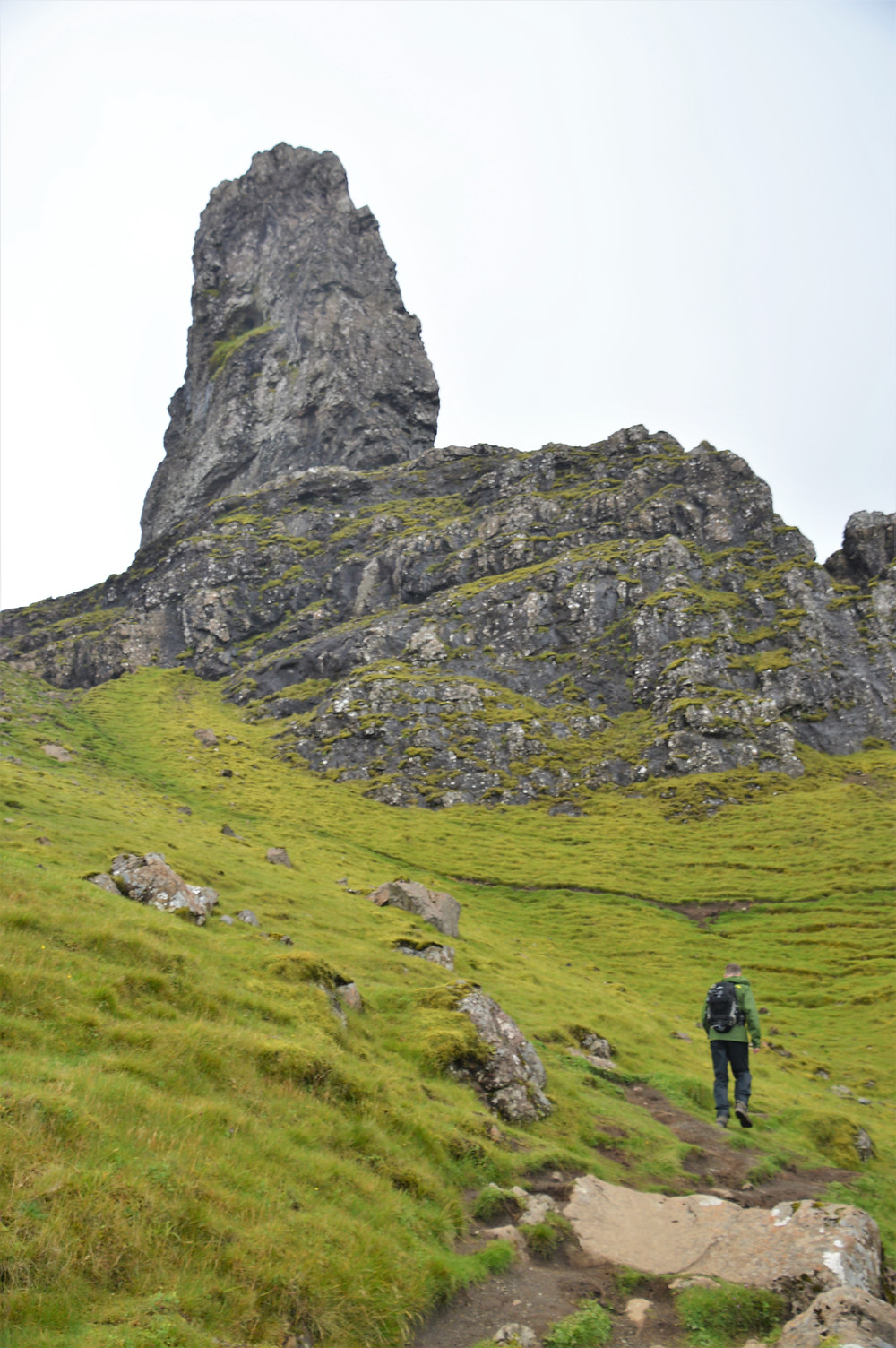The area in front of the Old Man of Storr contains a number of oddly-shaped rock pinnacles