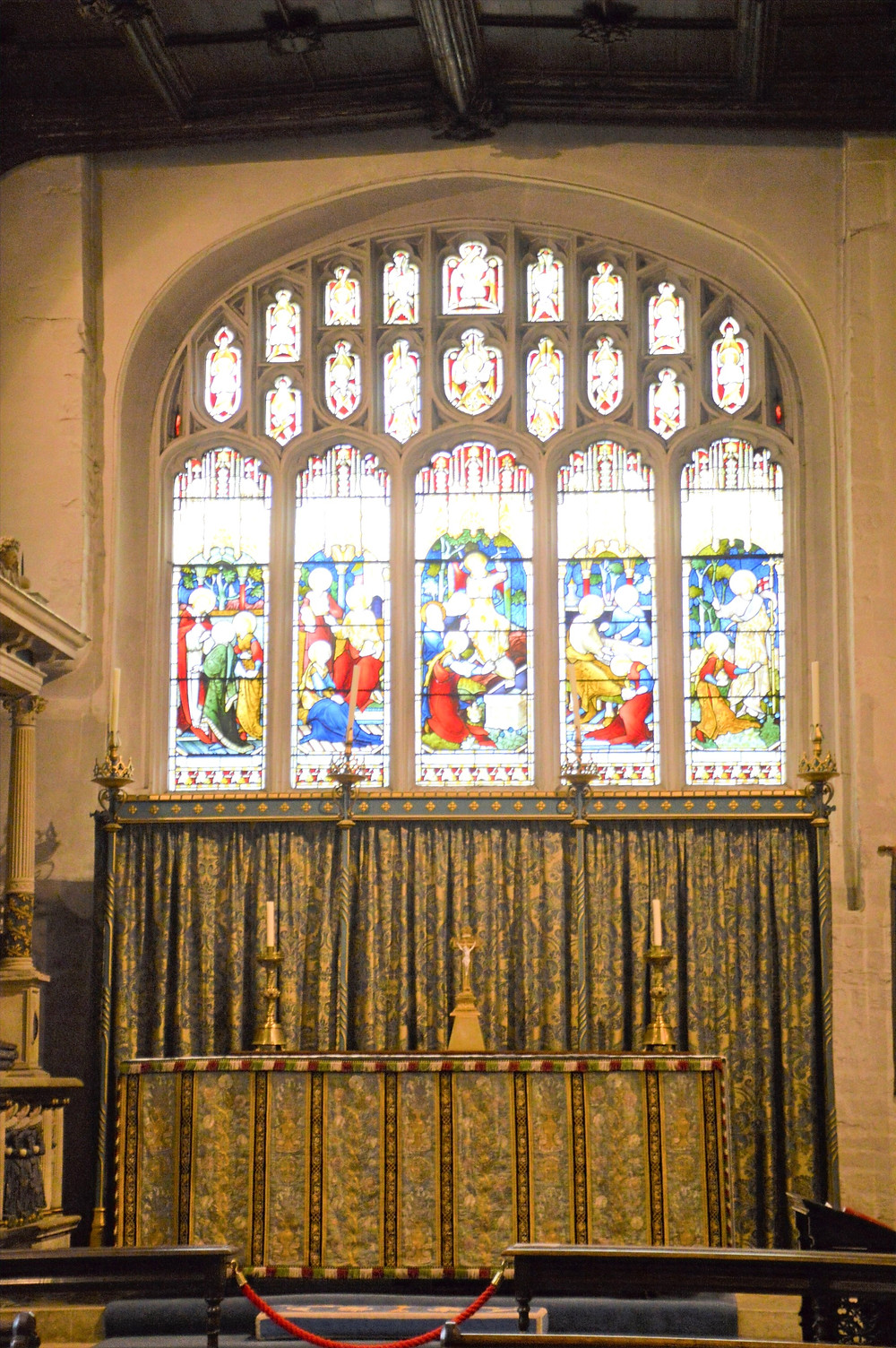 Lady Chapel which dates to around 1240 in Cathedral of the Cotswolds, St. John the Baptist in Cirencester of the Cotswolds
