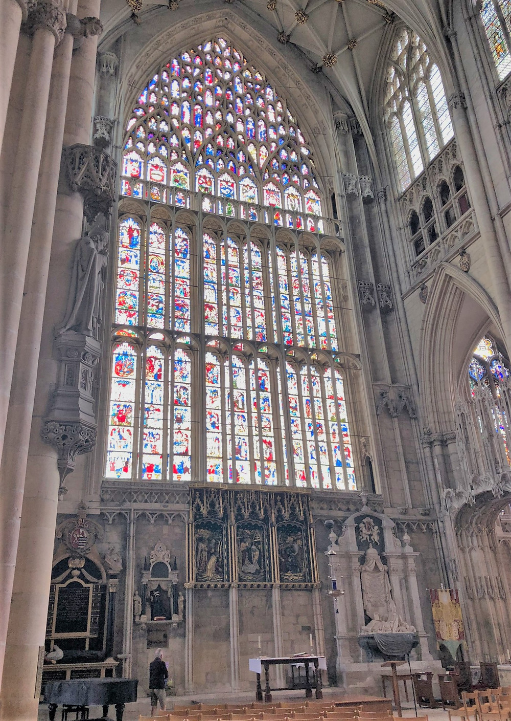 East Window in York Minster is one of the great artistic achievements of the Middle Ages.