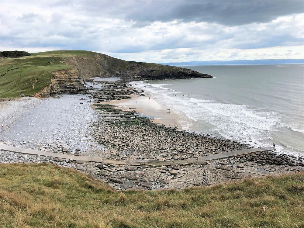 Dunraven Beach along the Glamorgan Heritage Coastal Trail in Wales