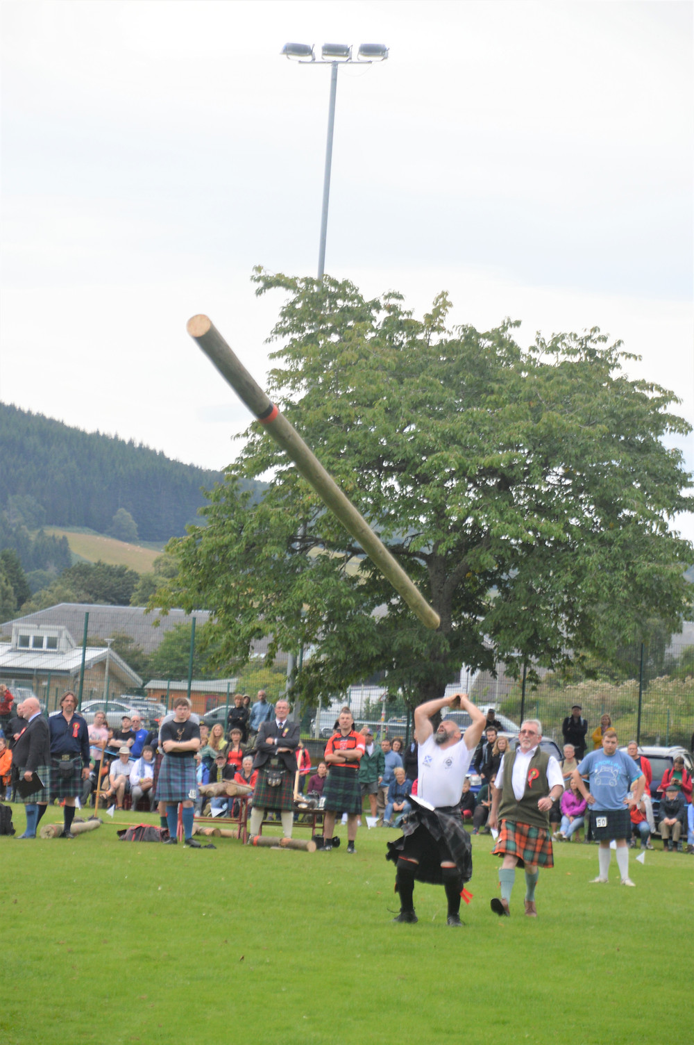 Tossing the Caber competition at the 'Glenurquhart Highlands Games that were taking place today in Drumnadrochit