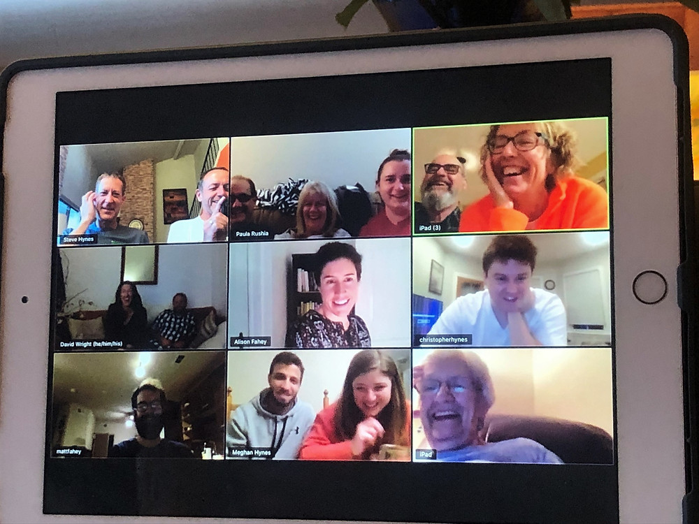 Zoom family meeting during COVID pandemic 2020.
