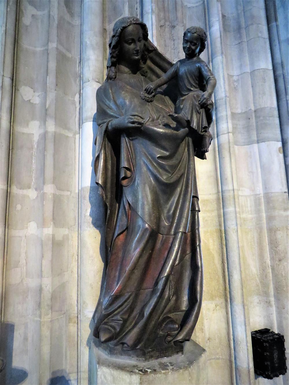 Madonna statue in St Stephen's Cathedral in Vienna