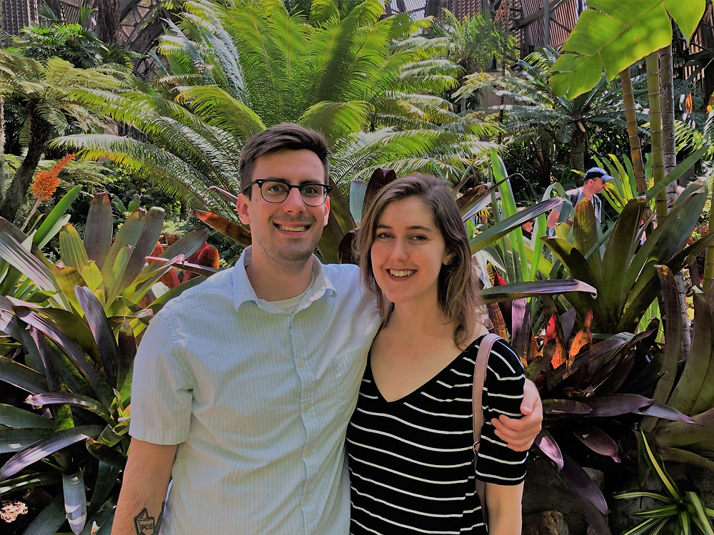 In the Botanical Building and Gardens in Balboa Park in San Diego
