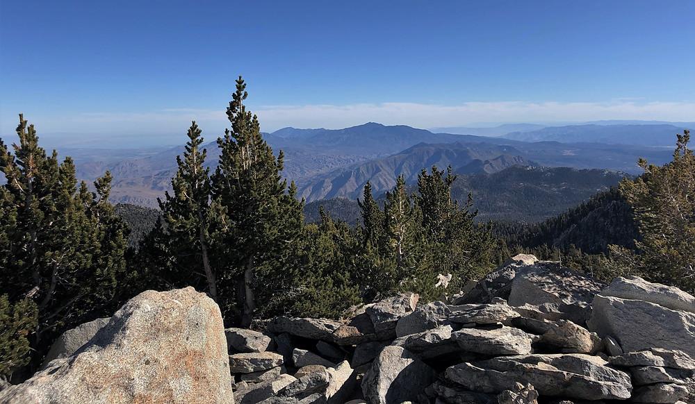 Santa Rosa mountains from the summit of San Jacinto