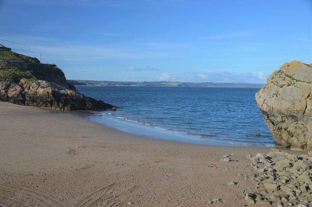 Beach in Tenby, Wales