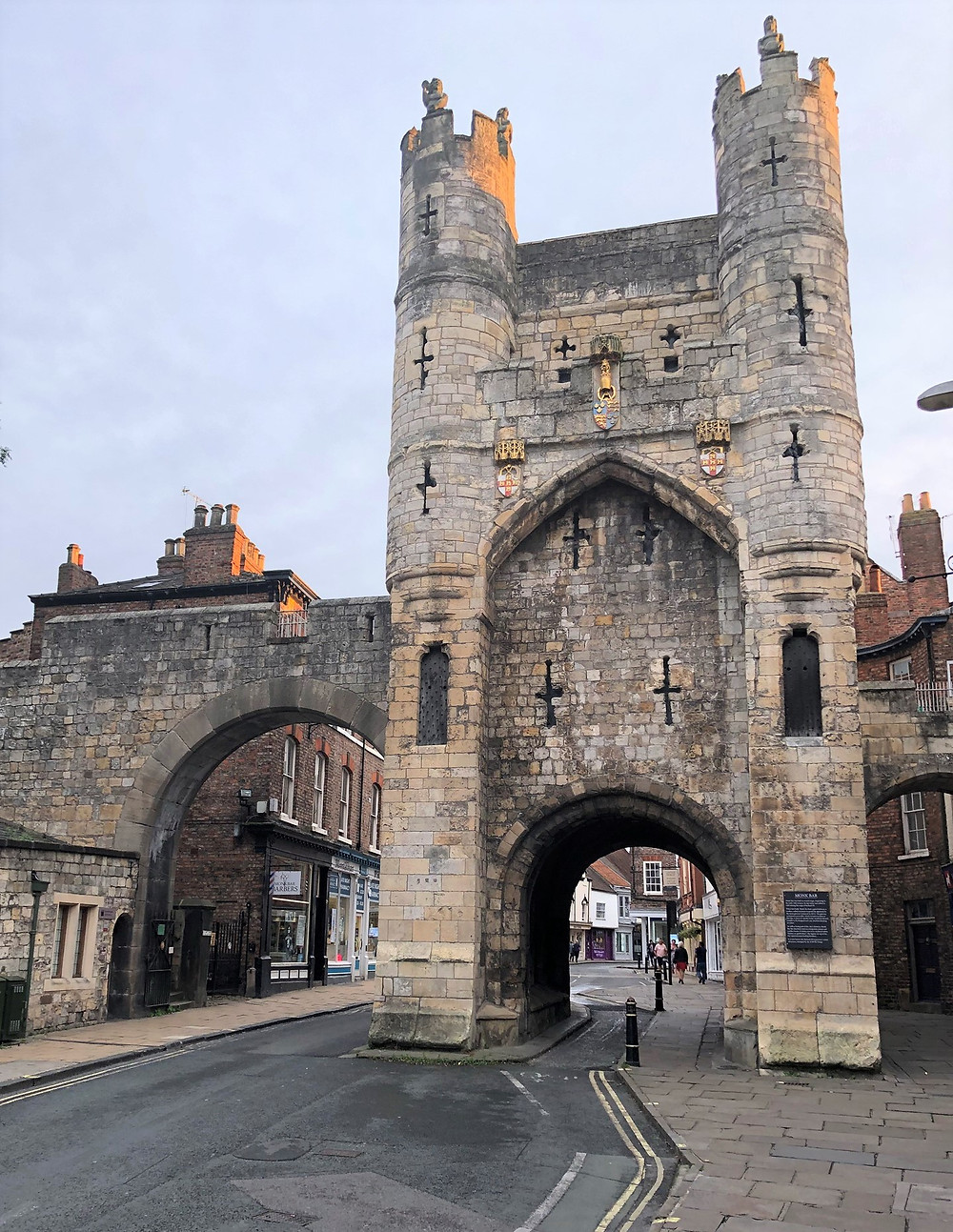 The Micklegate Bar was the most important of York's four main medieval gateways. York, England
