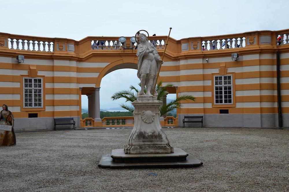 Exterior courtyard of Melk Abbey in Austria