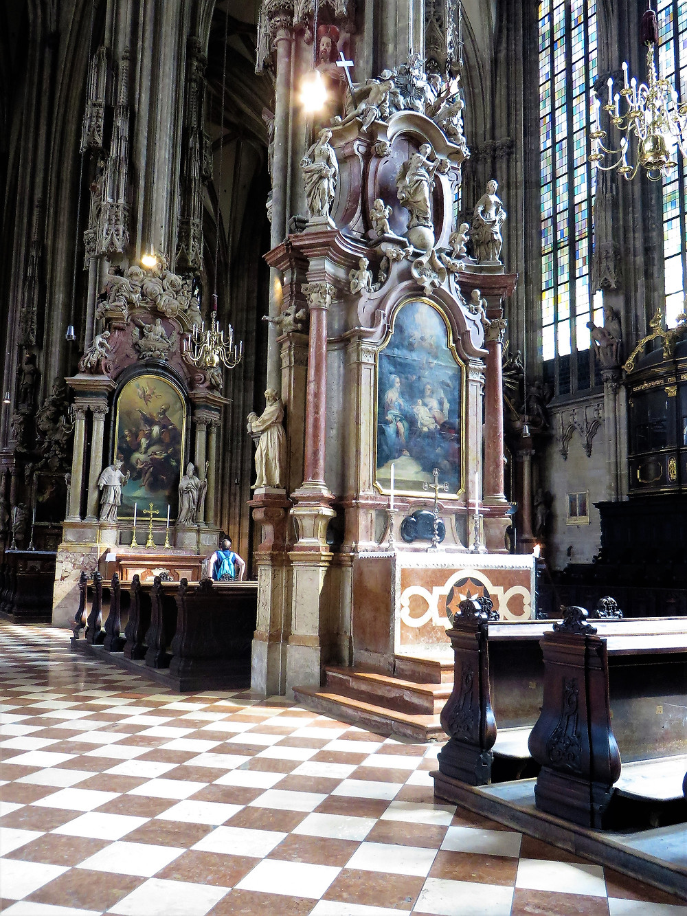 Beautiful side altars in St Stephen's Cathedral in Vienna