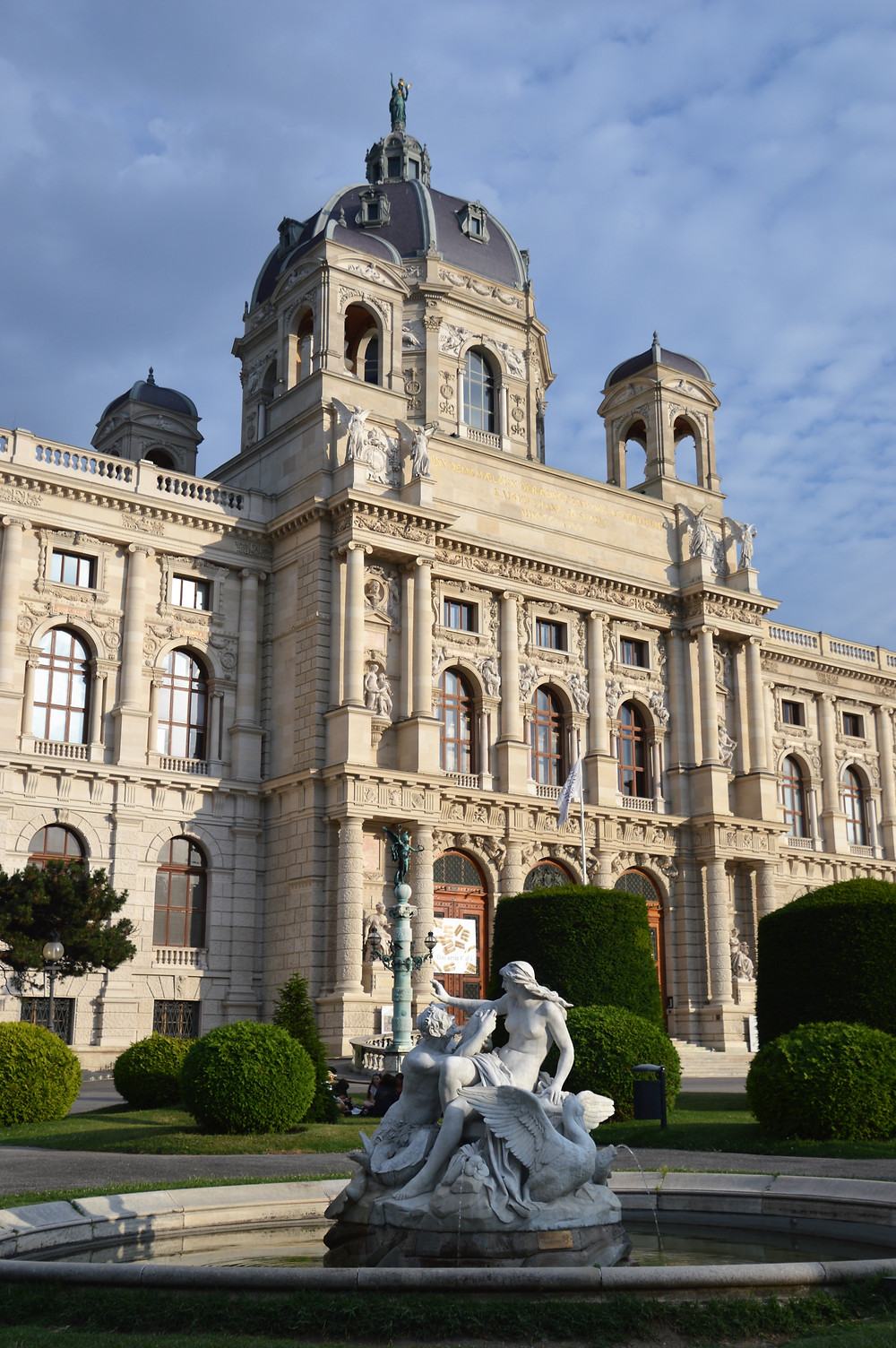 The ornate exterior of the Natural History Museum in Vienna