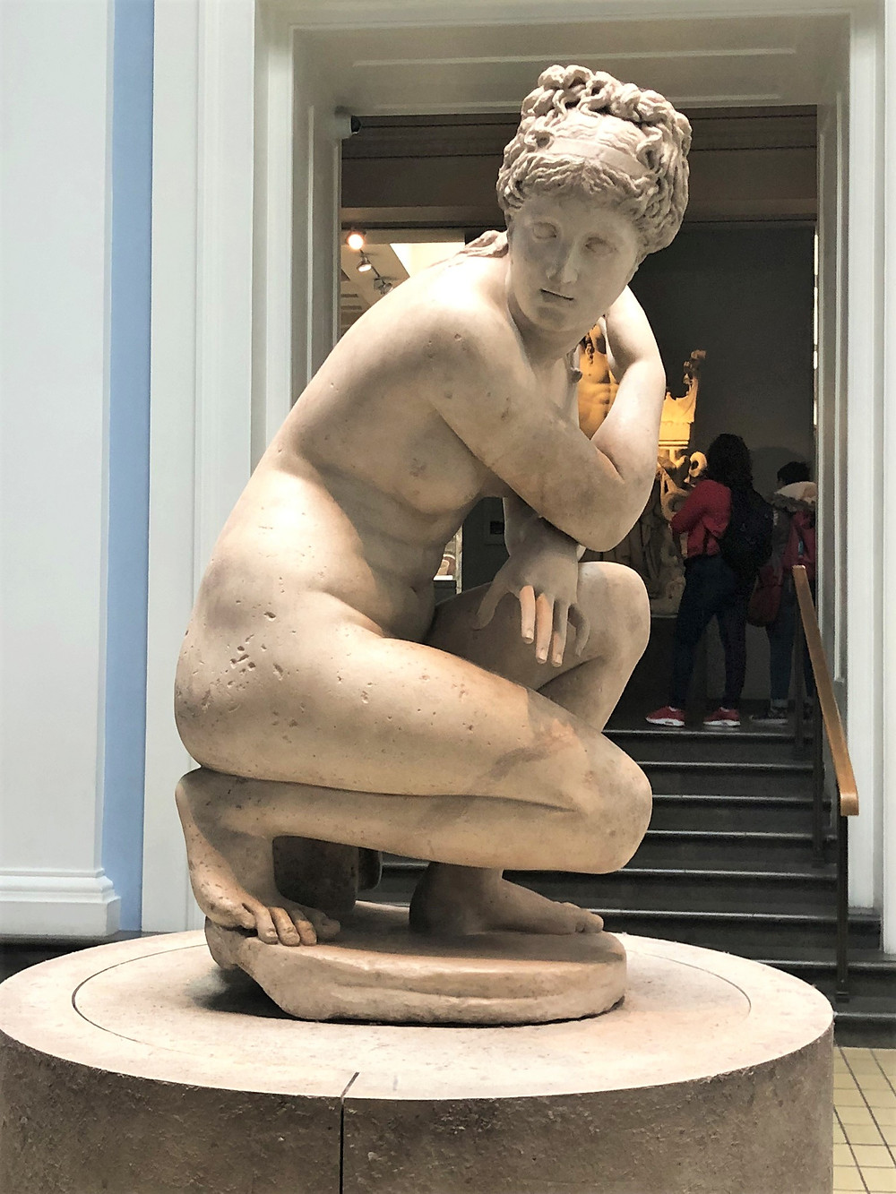 On display at The British Museum the famous version of the 'Crouching Venus' (1st century AD).