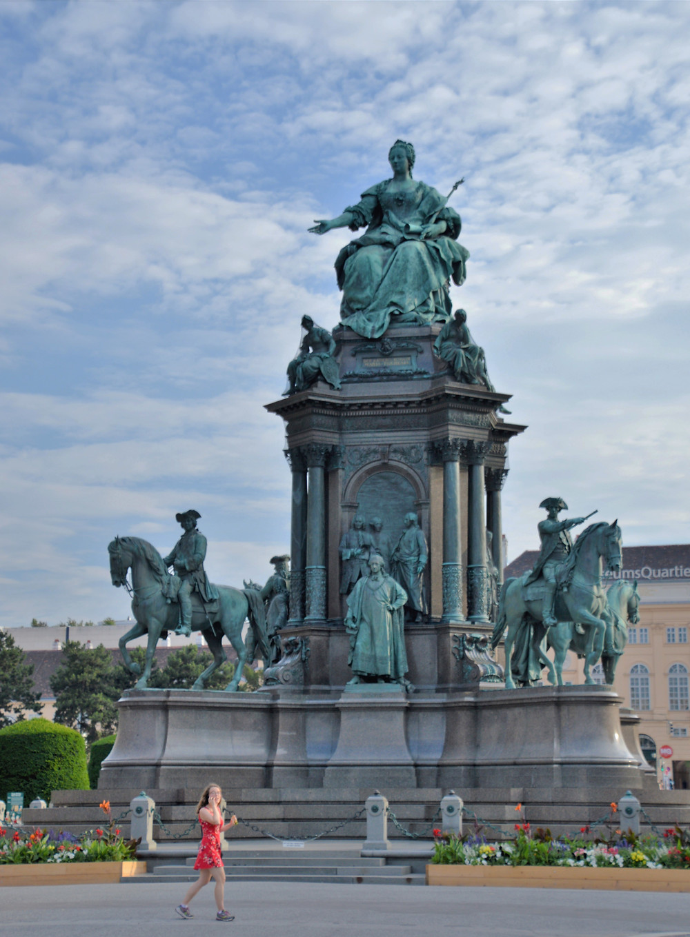 The Empress Maria Theresa monument in Museum Square in Vienna