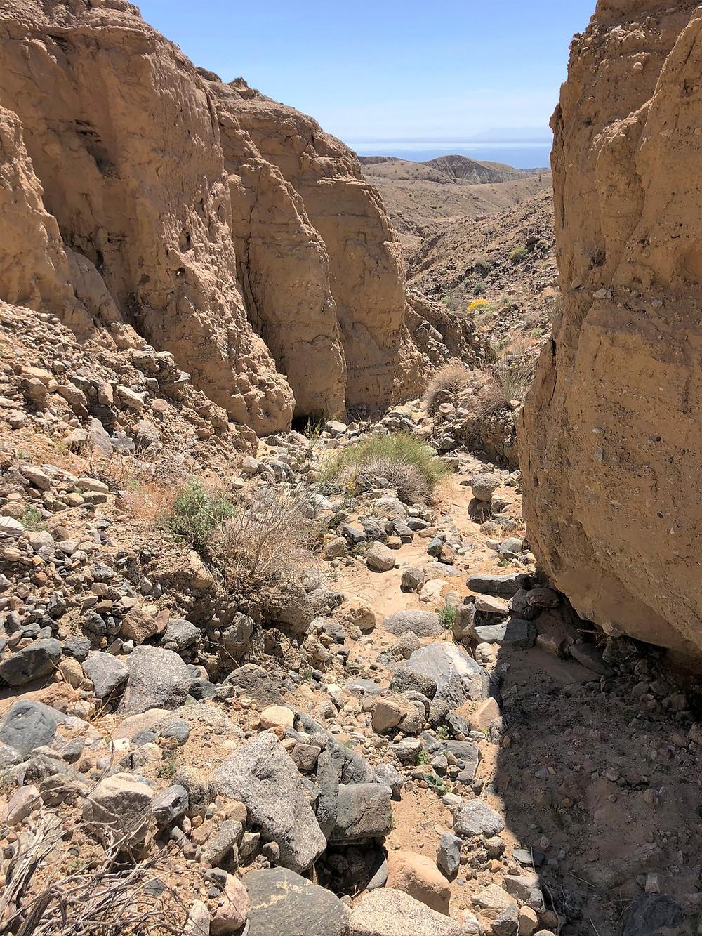 Salton Sea from Mecca Hills trail