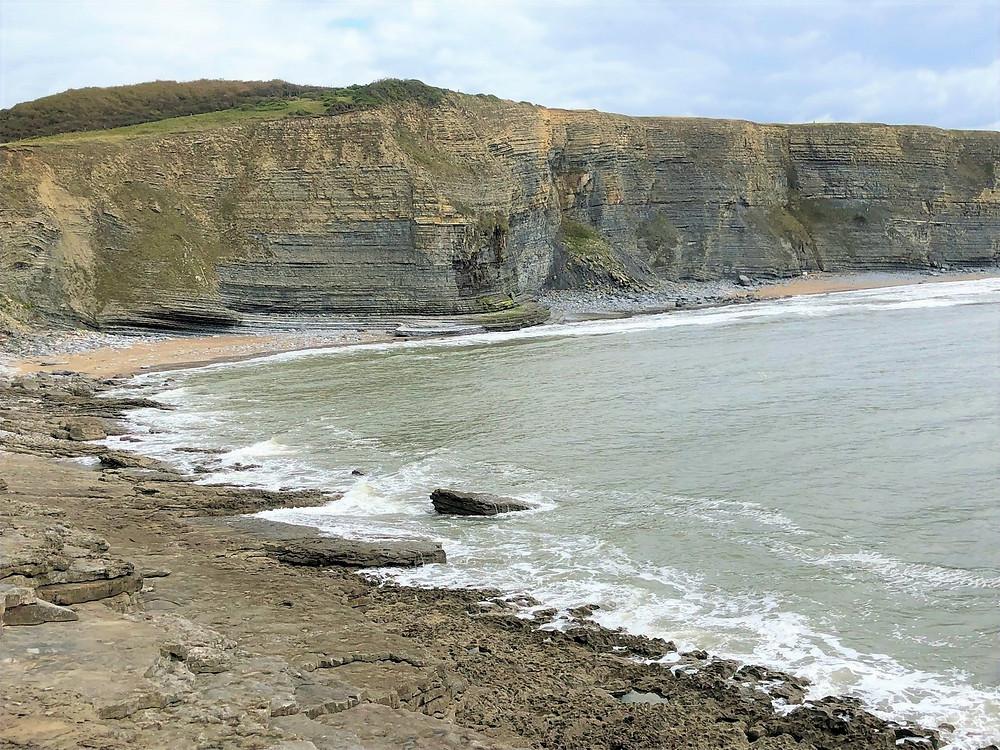 Views of the Jurassic Cliffs of Wales along the Glamorgan Heritage Coastal Trail