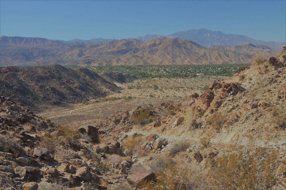 Palm Desert from the Eisenhower Loop trail in the Santa Rosa Mountains