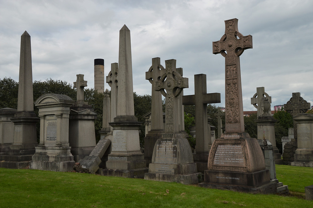 Within these 37 acres of the Necropolis are over 3,500 monuments of all sizes, shapes and designs.