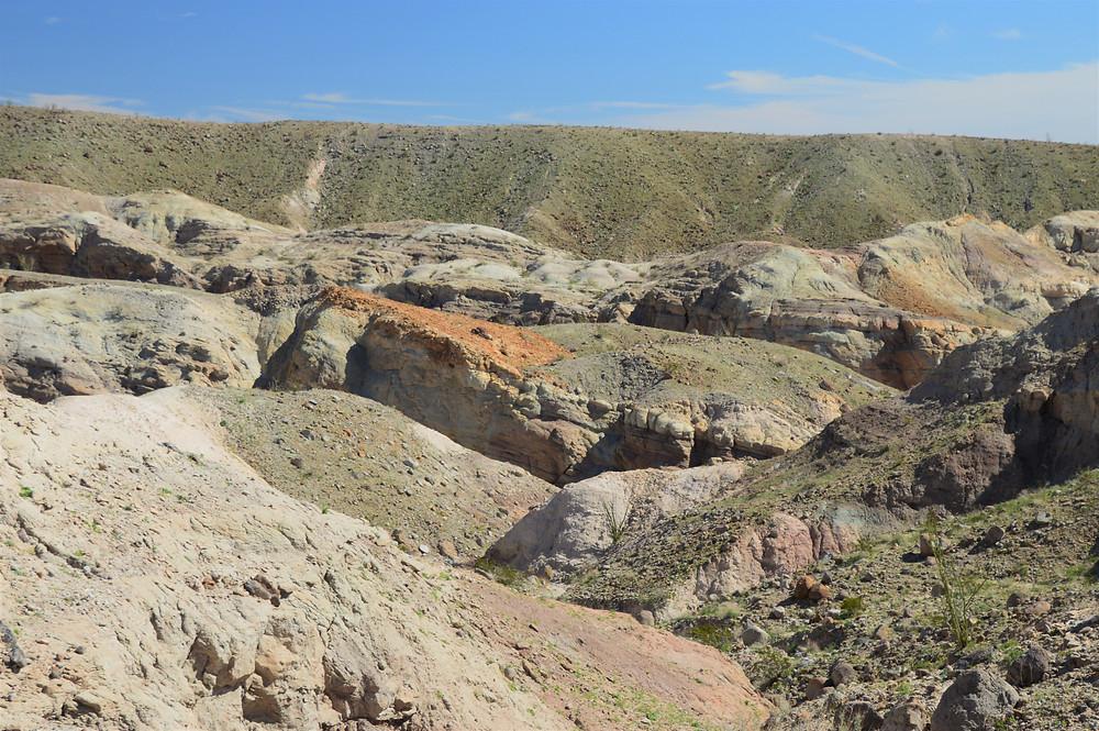 Calcite Mine trenches in the Calcite Mine area of Anza-Borrego State Park