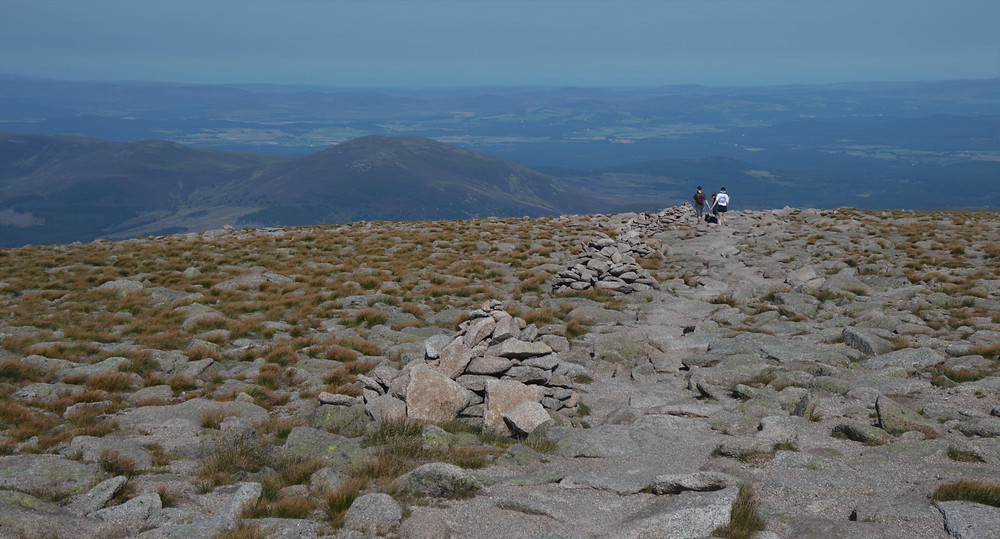 Rock path from the summit of Cairn Gorms