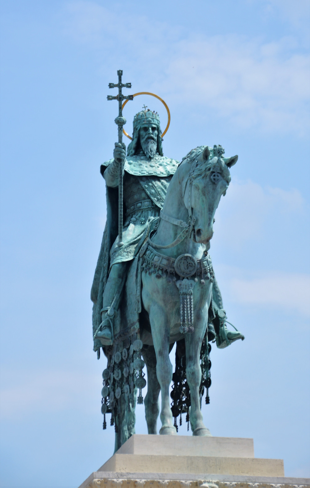 The equestrian statue of St. Stephen, first King of Hungary (1000-1038).