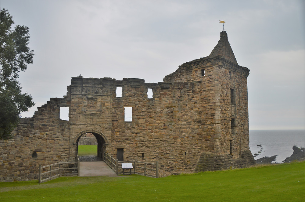 Ruins of St. Andrews Cathedral in St Andrews Scotland