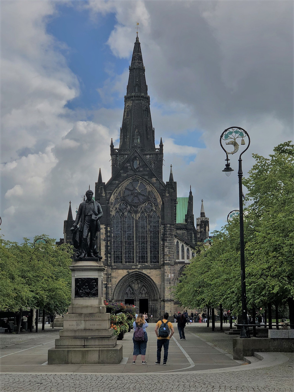 Steeple and main entrance of Glasgow Cathedral