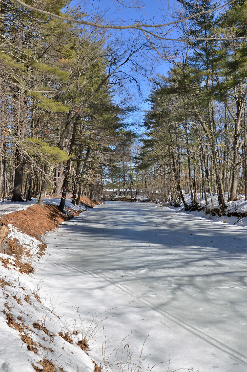 Nashua Manufacturing Co. canal flowing through Mine Falls Park in Nashua NH