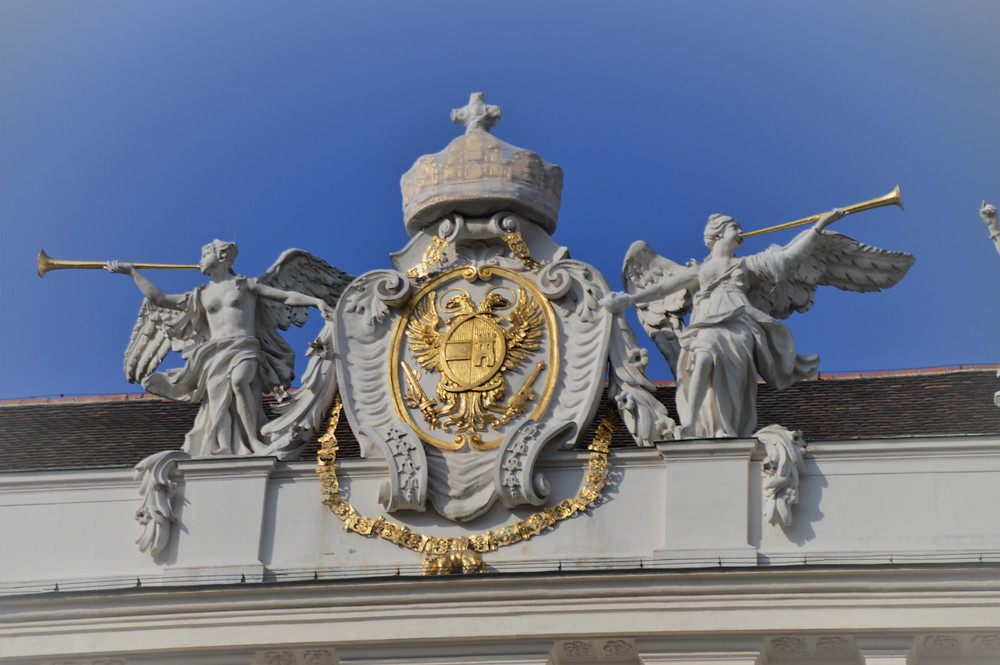 The double-headed eagle: the omnipresent emblem and coat of arms of the Habsburgs.
