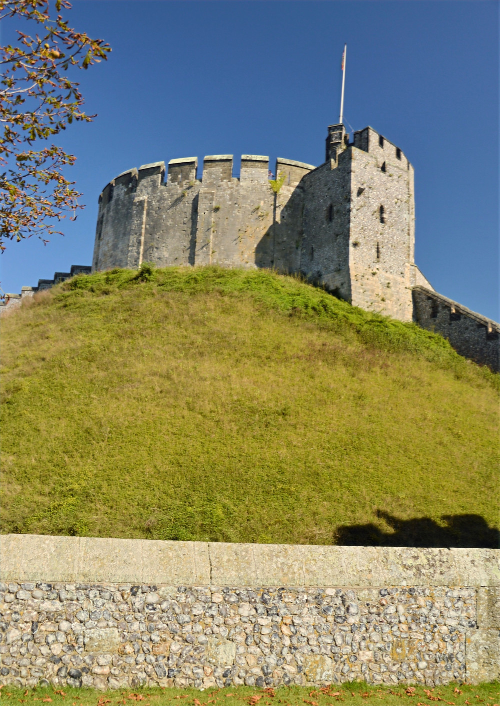 The oldest surviving parts of Arundel Castle is the Keep dating originally from 1068