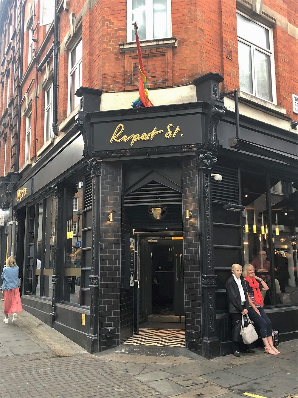 Rupert Street gay bar in London