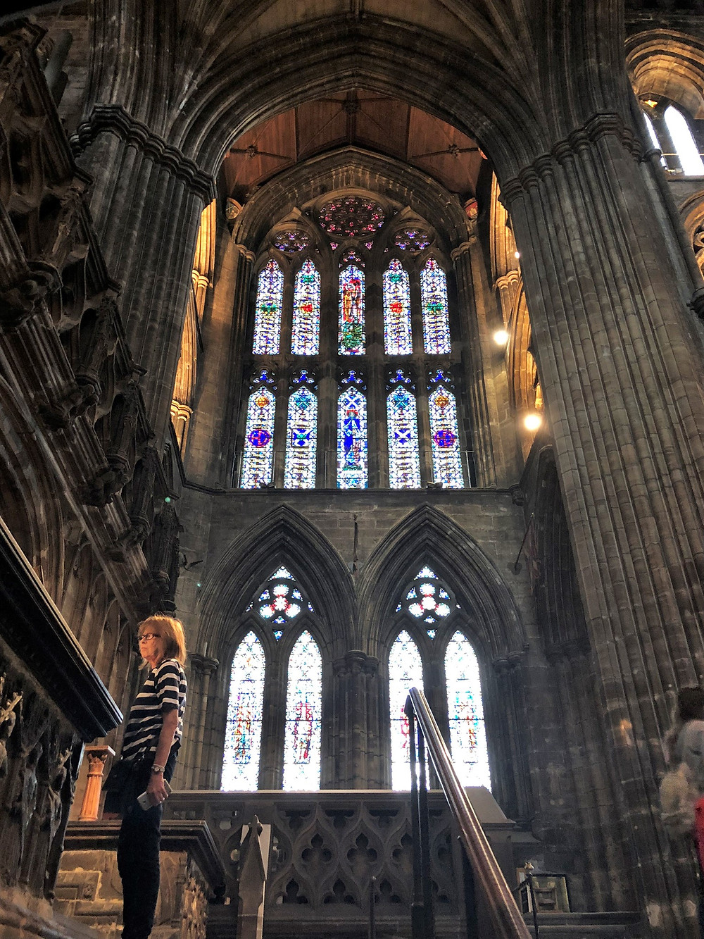 Post-war stained glass windows in Glasgow Cathedral
