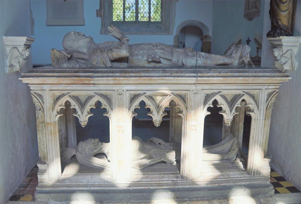 The tomb of John Fitzalan, 14th Earl of Arundel, 4th Baron Maltravers (1435) in Fitzalan Chapel on Arundel Castle grounds.