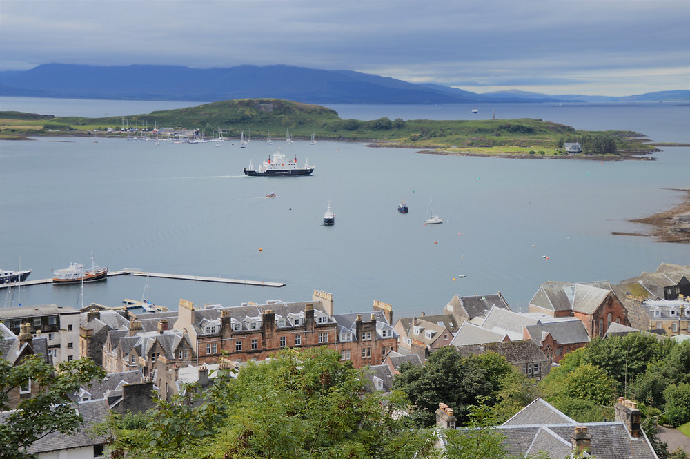 The Isle of Kerrera from McCaig's Tower in Oban Scotland
