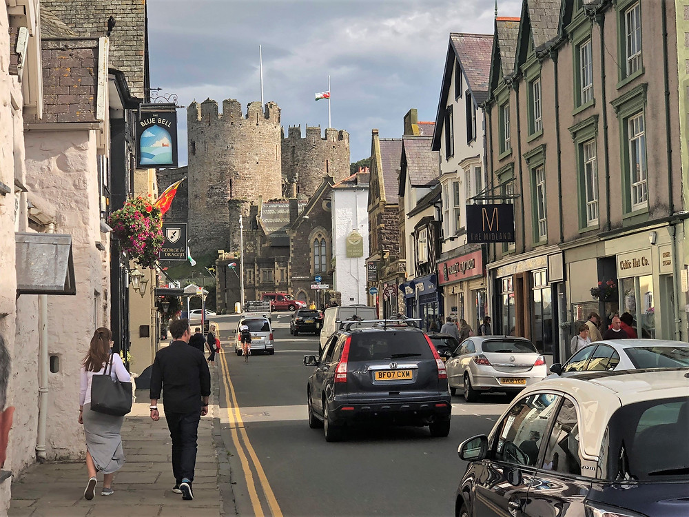 View of Conwy Castle from the village