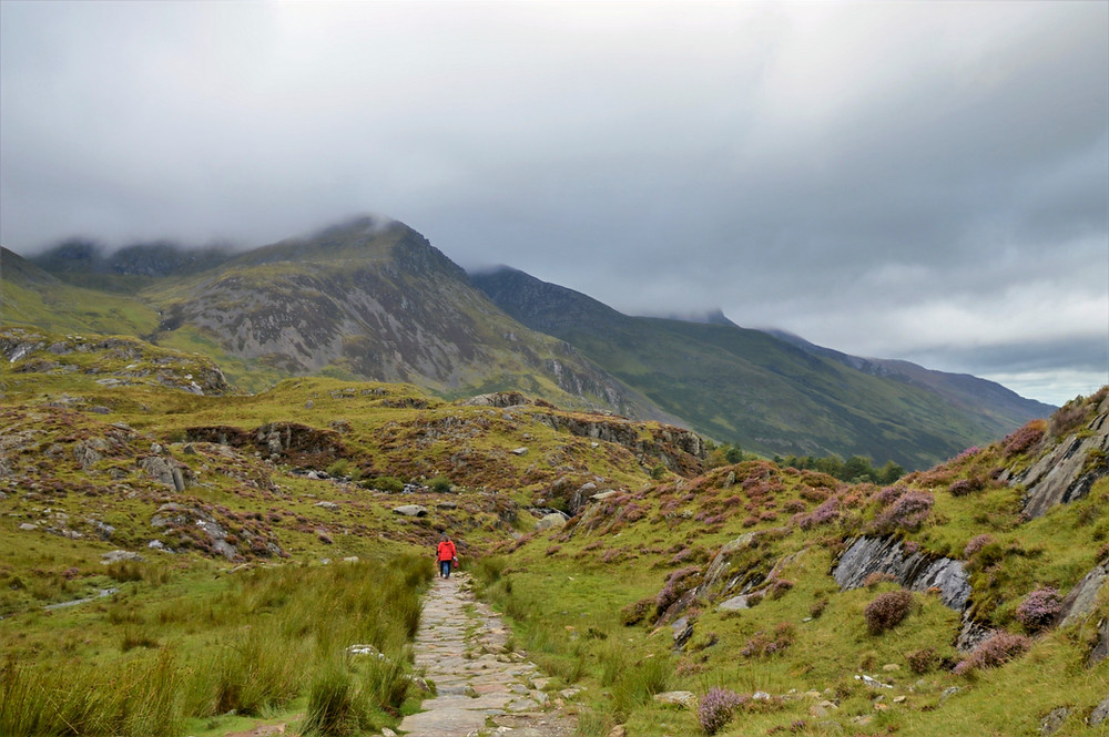 Footpath leading to Llyn Idwal on the trail leading to Devil's Kitchen in Snowdonia