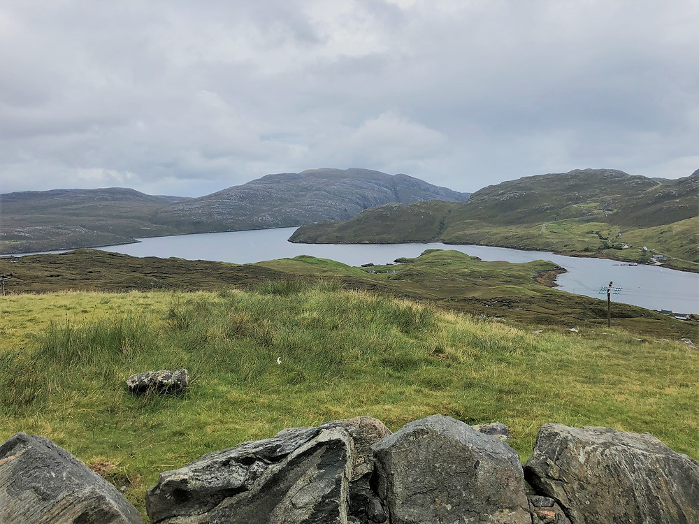 Road from Tarbert to Carloway on Lewis and Harris in the Outer Hebrides