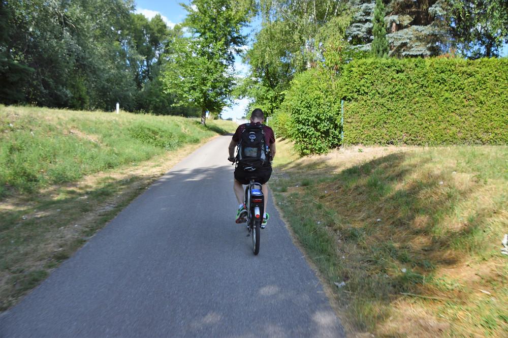 Biking through quaint villages along the Danube River in the Wachau Valley of Austria