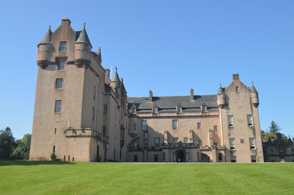 Sections of Fyvie Castle in Aberdeenshire, Scotland date 1300s
