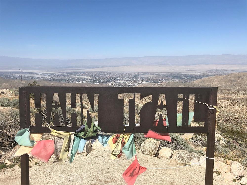 Hahn Vista Trail sign in the Santa Rosa Mountains
