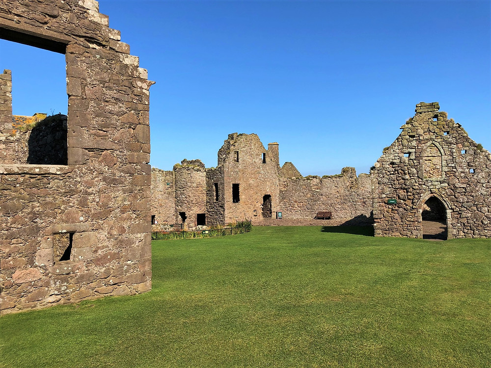 Walls of the Dunnottar Castel Chapel still stand in the Palace complex