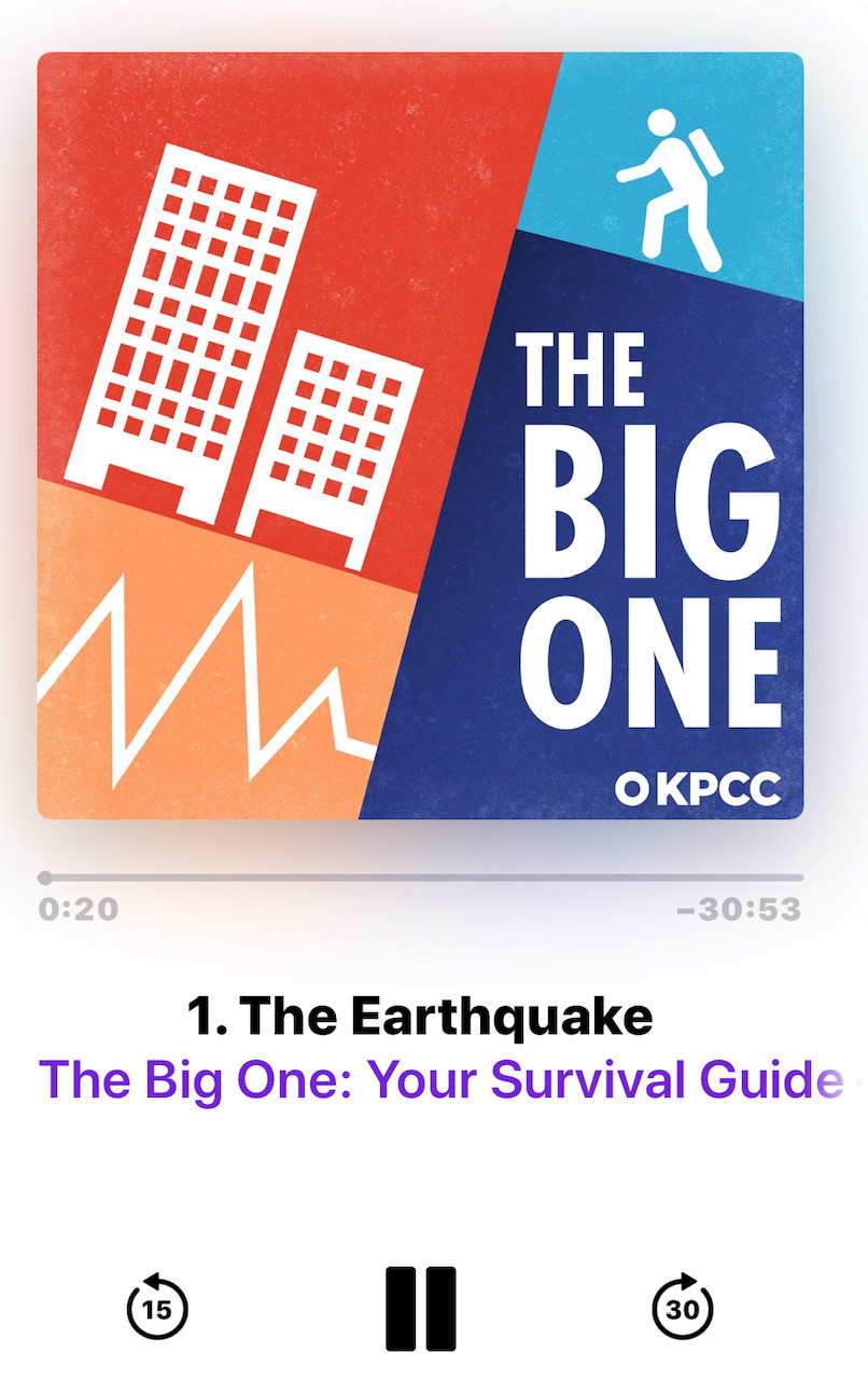 The Big One podcast hosted by Jacob Margolis from KPCC