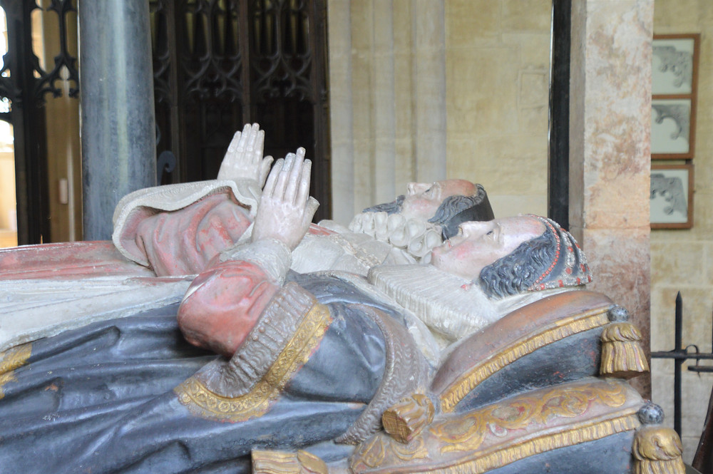 Tomb of Sir Lawrence, Chancellor of the Exchequer to James I in Burford Church.  Burford of the Cotswolds